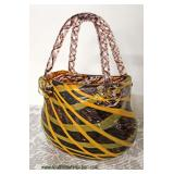 Hand Blown Art Glass Purse Style Vase Tagged 5th Avenue Crystal  Auction Estimate $50-$100 – Locate