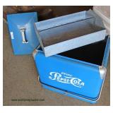 NICE VINTAGE Pepsi Cooler in Original Paint and with Original Insert  Auction Estimate $100-$300 –