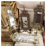 Selection of Mirrored Bronze Wall Sconces  Auction Estimate $20-$200 – Located Inside
