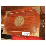 SOLID Hardwood Asian Lift Top Box  Auction Estimate $100-$200 – Located Inside