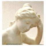 SOLID Marble Water Bury Lady Statue  Auction Estimate $400-$800 – Located Inside
