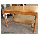 ANTIQUE Oak One Drawer Library Table   Auction Estimate $100-$300 – Located Inside