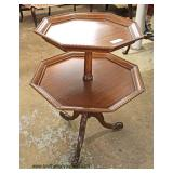 Mahogany 2 Tier Stand   Auction Estimate $20-$50 – Located Inside