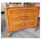 "Mid Century Walnut ""Contessa Furniture"" 3 Drawer Bachelor Chest   Auction Estimate $200-$400 – Locat"