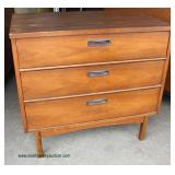 Mid Century Danish Walnut 3 Drawer Bachelor Chest   Auction Estimate $200-$400 – Located Inside
