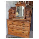 ANTIQUE Mahogany Vanity with Tri Fold Mirror   Auction Estimate $100-$200 – Located Inside