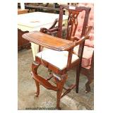 SOLID Mahogany Decorative Doll High Chair   Auction Estimate $50-$150 – Located Inside