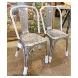 Brand New – PAIR of Modern Style Stainless Steel Charis   Auction Estimate $200-$400 – Located Insid