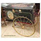 ONE OF THE BEST ANTIQUE Advertisement Bread Baker Box with Original Carriage and Paint   Auction Est