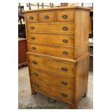 """SOLID Maple """"Davis Furniture Company"""" Chest on Chest   Auction Estimate $200-$400 – Located Inside"""