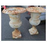 PAIR of Cast Iron Older Victorian Style Out Door Planters   Auction Estimate $300-$600 – Located Out
