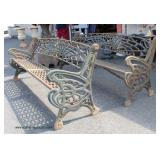 AWESOME of PAIR of Antique Style Cast Iron Garden Benches   Auction Estimate $1500-$2500 – Located O