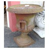 Cast Iron Urn  Planter   Auction Estimate $100-$300 – Located Out Front