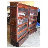 THE BEST ANTIQUE PAIR of SOLID Mahogany 4 Stack Barrister Bookcases  with all Matching Numbers, Ori