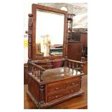 ANTIQUE SOLID Mahogany Multi Drawer Shaving Mirror with Gallery   Auction Estimate $200-$400 – Locat