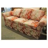 "Upholstery ""Stickley Furniture"" 3 Cushion Sofa in the Silk Floral Pattern   Auction Estimate $200-$6"