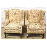 PAIR of Pettie Point Mahogany Frame Fire Side Chairs   Auction Estimate $200-$400 – Located Inside