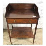 ANTIQUE One Drawer SOLID Mahogany Washstand  Auction Estimate $400-$800 – Located Inside