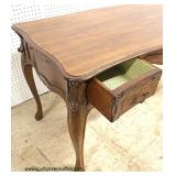 ANTIQUE Italian SOLID Mahogany Writing Desk  Auction Estimate $500-$1000 – Located Inside
