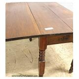 Selection of ANTIQUE SOLID Mahogany Turn Leg Drop Side Breakfast Tables  Auction Estimate $200-$400