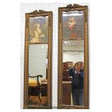 PAIR of ANTIQUE Carved and Ornate Portrait Mirrors in the French Style   Auction Estimate $300-$600