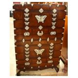 ANTIQUE Asian Chest on Chest with Decorative Metal Accents   Auction Estimate $500-$1000 – Located