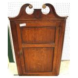ANTIQUE Oak HANGING Corner Cupboard   Auction Estimate $200-$400 – Located Inside
