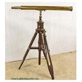 MUSEUM QUALITY ANTIQUE Brass Telescope with Original Tri Pod and Providence Plaque  Auction Estimat