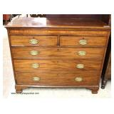 ANTIQUE 2 over 3 SOLID Mahogany Chest   Auction Estimate $300-$600 – Located Inside