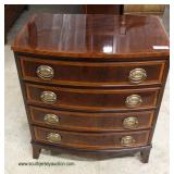 BEAUTIFUL Burl Mahogany and Banded Bachelor Chest   Auction Estimate $300-$600 – Located Inside