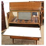 Mid Century Modern Danish Walnut Lift Top Fold Out Bar  Auction Estimate $200-$400 – Located Inside