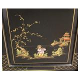 "Large Asian Decorated ""Union National Furniture"" 4 Door China with Beveled Glass  Auction Estimate"