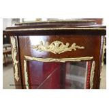 French Style 1 Door Crystal Cabinet with Applied Bronze  Auction Estimate $200-$400 – Located Insid
