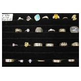 Selection of Marked 925 Silver Rings  Auction Estimate $10-$30 – Located Inside