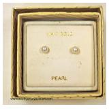 10 Karat Yellow Gold Pearl Earrings  Auction Estimate $10-$30 – Located Inside