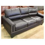 NEW Leather Sofa  Auction Estimate $300-$600 – Located Inside