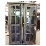 NEW Reclaim 16 Pane 2 Door Display Cupboard in the Country Finish with Restoration Hardware  Auctio