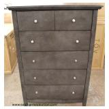 NEW 6 Drawer High Chest in the Grey Wash Finish  Auction estimate $100-$300 – Located Inside