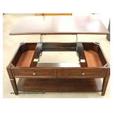 NEW Mahogany Finish Lift Top Coffee Table  Auction estimate $100-$300 – Located Inside