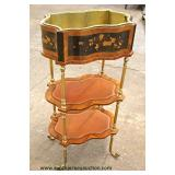 French Style 3 Tier Plant Stand  Auction Estimate $100-$200 – Located Inside