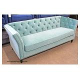 NEW Contemporary Even Arm Button Tufted Decorator Sofa  Auction Estimate $300-$600 – Located Inside