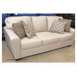 "NEW Contemporary ""Bench Craft Furniture"" Upholstered Sofa with Throw Pillows  Auction Estimate $300-"