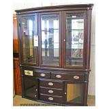 NEW Contemporary 2 Piece Mirror Back China Cabinet  Auction Estimate $100-$300 – Located Inside