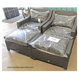 NEW All Weather Wicker 6 Piece Patio Set – still in original wrapper all assemble ready to go  Auct