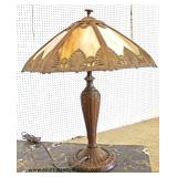 ANTIQUE Slag Glass Lamp  Auction Estimate $200-$400 – Located Inside