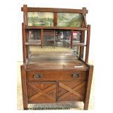 ANTIQUE Dimitive Mission Oak Salesman Sampler Buffet  Auction Estimate $300-$600 – Located Inside