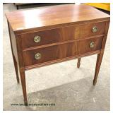 "Burl Mahogany ""Huntley Furniture"" 2 Drawer Fluted Leg Server  Auction Estimate $100-$300 – Located I"