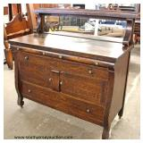 ANTIQUE Oak Empire Sideboard with Mirror  Auction Estimate $100-$300 – Located Inside