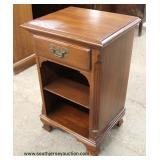 "SOLID Mahogany ""Mengel Furniture"" 1 Drawer Night Stand  Auction Estimate $50-$100 – Located Inside"