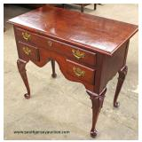 "Mahogany ""Harmony Furniture"" Queen Anne Low Boy  Auction Estimate $100-$300 – Located Inside"